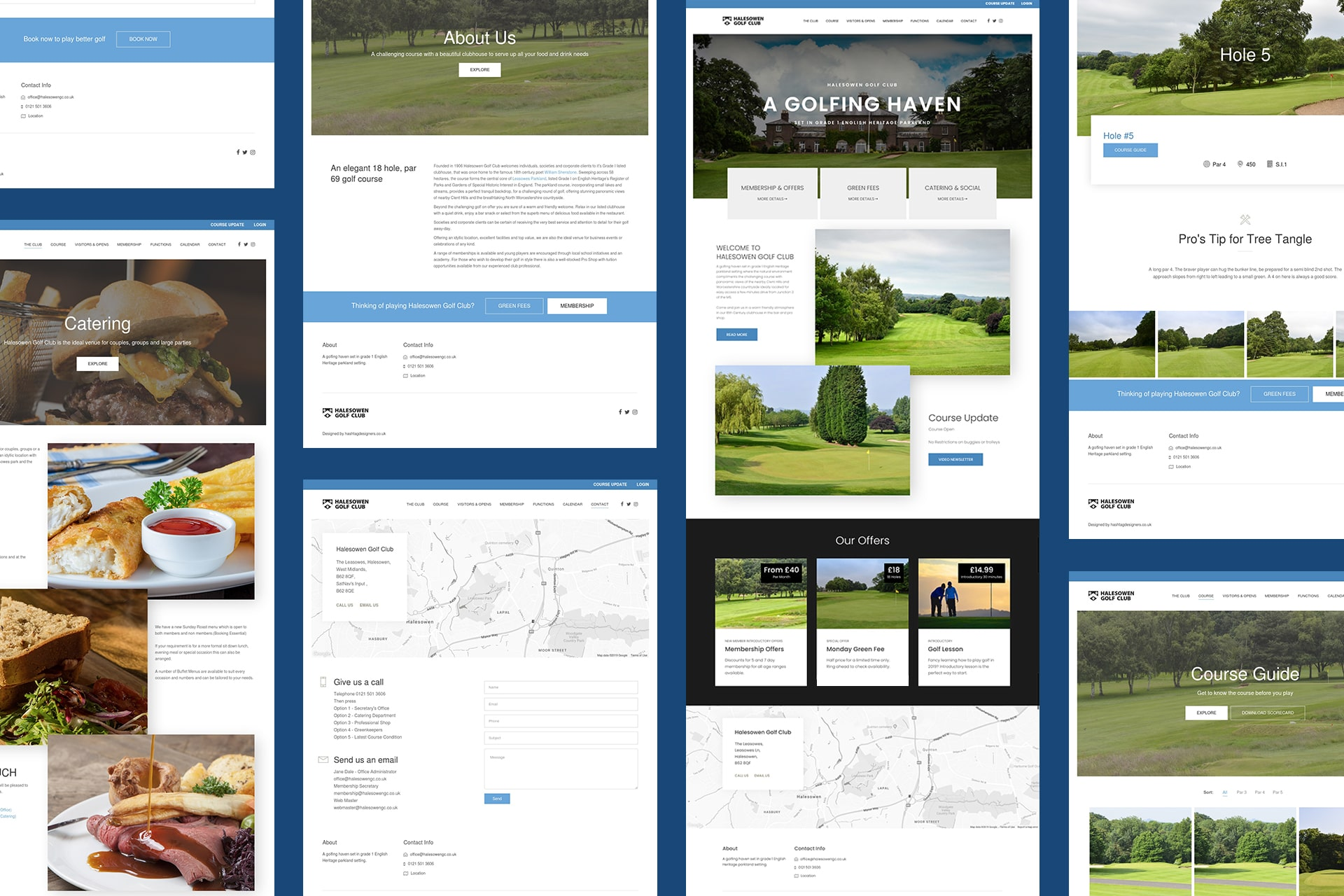 example of one of our creative clients work for a golf club